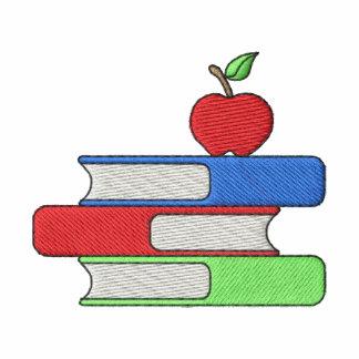 Os livros do professor camiseta bordada polo