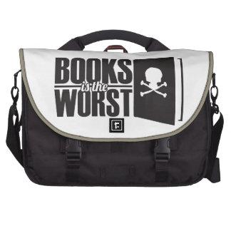 os livros são os mais maus bolsa para notebook