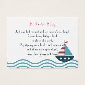 Os LIVROS vermelhos e azuis náuticos do barco Cartão De Visitas