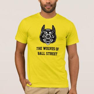 Os lobos da rua da bola coloridos camiseta
