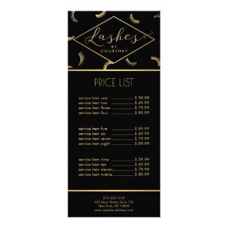 Os lotes dos chicotes modelam o preto/ouro do 10.16 x 22.86cm panfleto