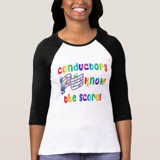 Os maestros sabem a contagem t-shirt