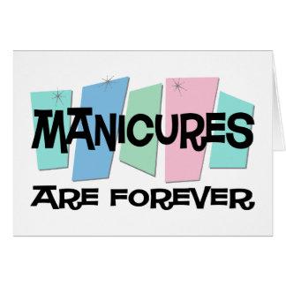 Os Manicures são Forever Cartao