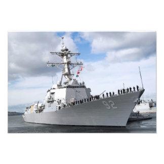 Os marinheiros equipam os trilhos impressão de foto