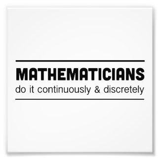 Os matemáticos fazem-no impressão de foto