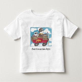 Os melhores amigos tomam o t-shirt do vôo camiseta infantil