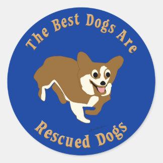 Os melhores cães são Corgi salvado de Galês do Adesivos Redondos