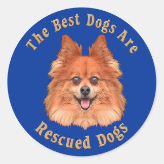 Os melhores cães são Pomeranian salvado) Adesivo