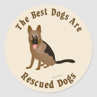 Os melhores cães são salvados - cão de german adesivo