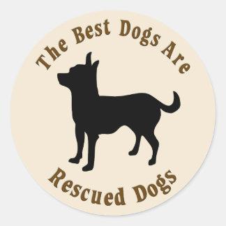 Os melhores cães são salvados - chihuahua adesivo