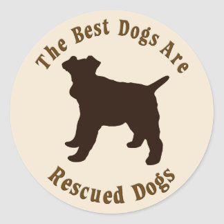 Os melhores cães são salvados - Fox Terrier do fio Adesivo