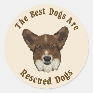 Os melhores cães são salvados (o Corgi de Galês do Adesivo