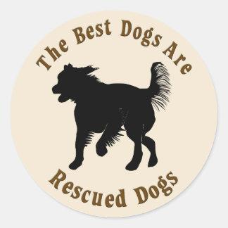 Os melhores cães são salvados - vira-latas adesivo
