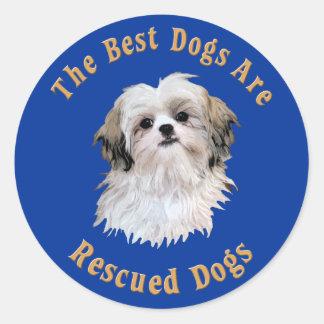 Os melhores cães são Shih salvado Tzu) Adesivos Redondos