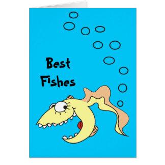 Os melhores peixes dos desenhos animados cartão comemorativo