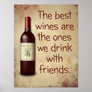 Os melhores vinhos -- Impressão da arte