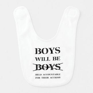 Os meninos serão babador dos meninos
