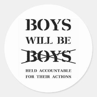 Os meninos serão etiqueta dos meninos (a praga