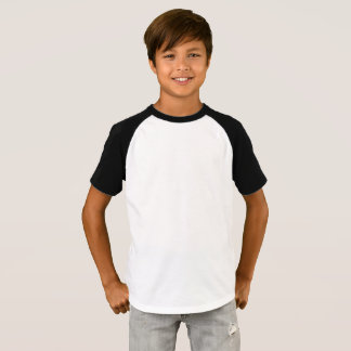 Os meninos Short o t-shirt do Raglan da luva Camiseta
