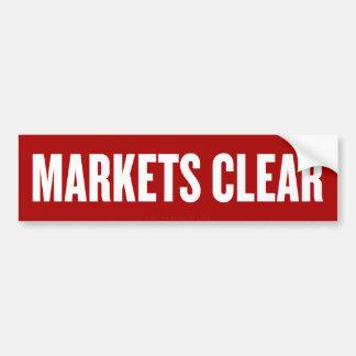 Os mercados cancelam o autocolante no vidro trasei adesivo para carro