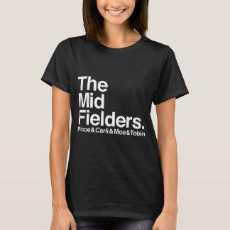 Os Midfielders Pinoe & Carli & Moe & camisa de
