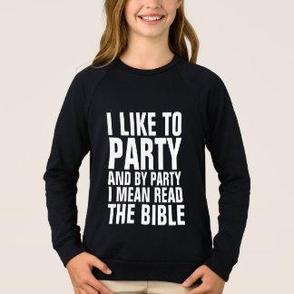 Os miúdos cristãos das camisetas pelo PARTIDO que