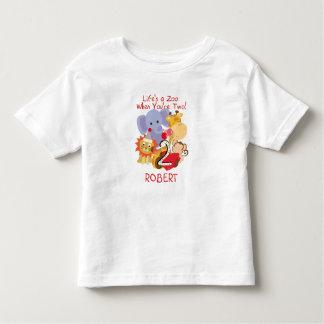 Os miúdos do segundo aniversário dos animais do camiseta infantil