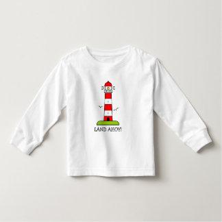 Os miúdos náuticos vestem desenhos animados camiseta infantil