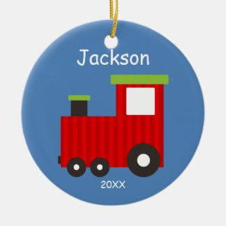 Os miúdos personalizaram o ornamento do trem do