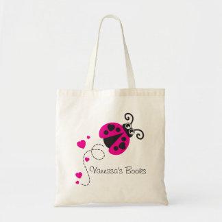 Os miúdos picam o saco da biblioteca dos corações bolsa tote