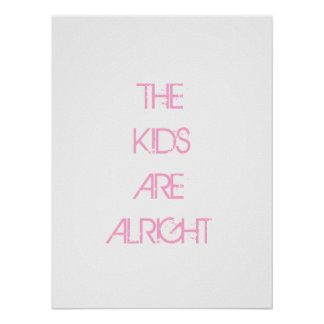 Os miúdos são poster tudo bem cor-de-rosa da pôster