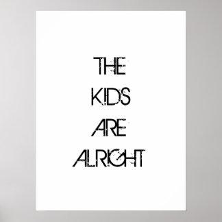 Os miúdos são tudo bem poster da tipografia pôster