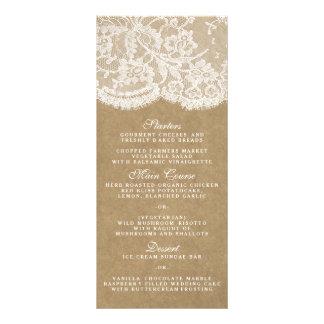 Os modelos do menu da coleção de Kraft & de laço Panfleto Personalizado