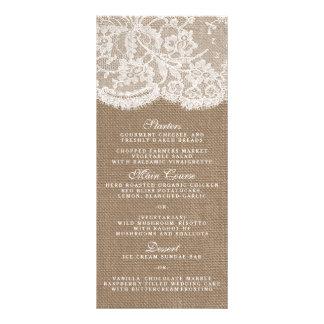 Os modelos do menu da coleção de serapilheira & de 10.16 x 22.86cm panfleto