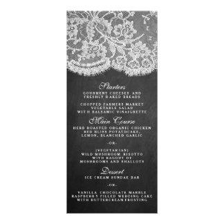 Os modelos do menu da coleção do quadro & do laço 10.16 x 22.86cm panfleto