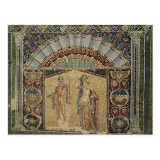 Os mosaicos antigos Herculaneum arruinam o cartão Cartão Postal