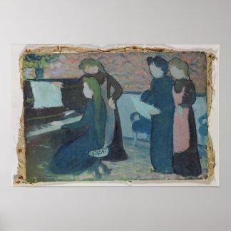 Os músicos, c.1892 pôster
