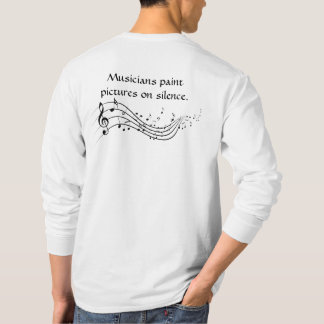 Os músicos pintam a camisa longa da luva