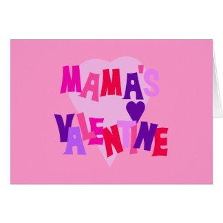 Os Namorados das cores do coração do Mama quente Cartão