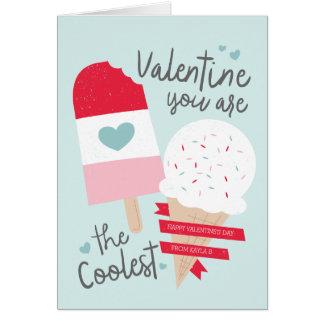 Os namorados os mais frescos cartão comemorativo