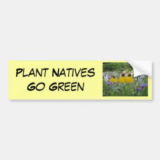 Os nativos da planta vão Verbena verde Adesivo Para Carro