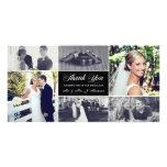 Os Newlyweds agradecem-lhe cartão com fotos