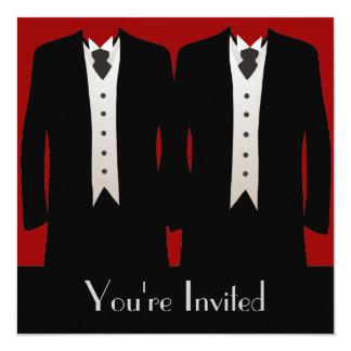 Os noivos convite quadrado 13.35 x 13.35cm