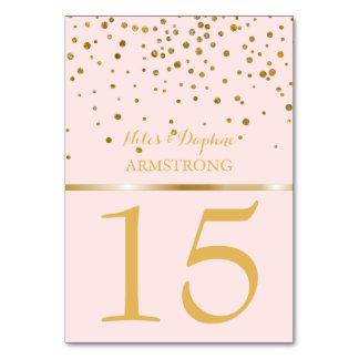 Os números Wedding da mesa | coram confetes