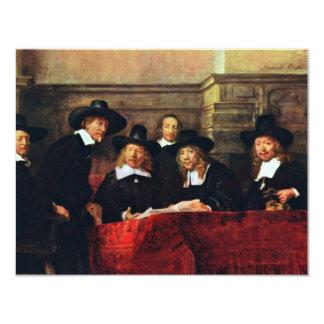 Os oficiais da amostra. Por Rembrandt Van Rijn Convite 10.79 X 13.97cm
