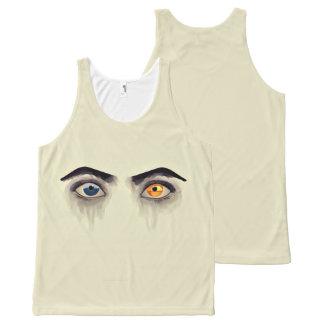 Os olhos regata com estampa completa