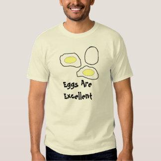 Os ovos são excelentes t-shirt