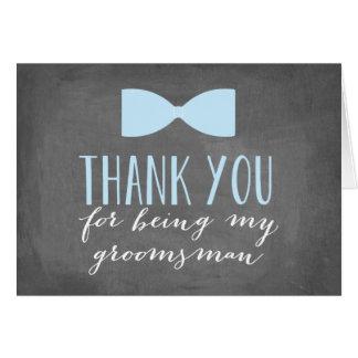 Os padrinhos de casamento agradecem-lhe padrinho cartão de nota