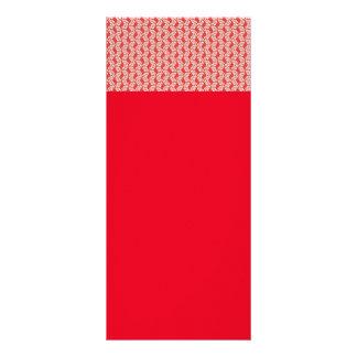 os padrões brancos vermelhos do design floral do panfleto informativo personalizado