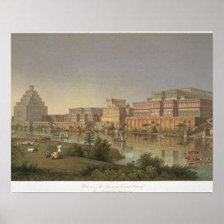 Os palácios de Nimrud restauraram, uma reconstruçã Poster